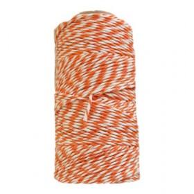 Algodón blanco-naranja