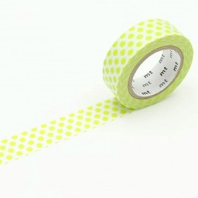 Washi tape dot lime