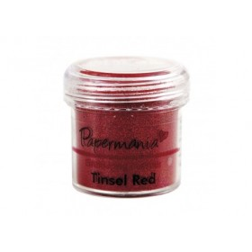 Polvo embossing tinsel red