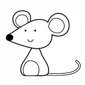Sello madera ratón