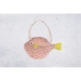 Bolso pez globo grande rosa