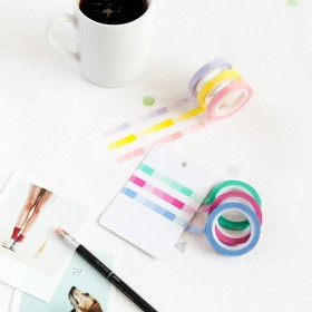 Pack Washi tape slim degradado pastel