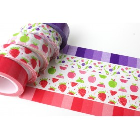 Washi tape degradado rojo