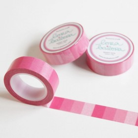 Washi tape degradado rosa
