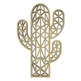 Silueta madera cactus