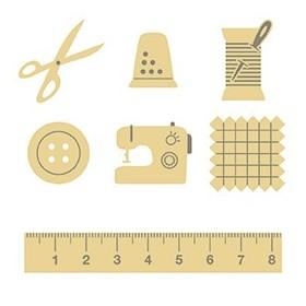 Silueta madera costura