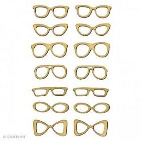 Silueta madera gafas