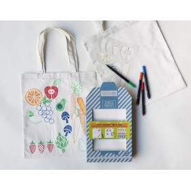 "Kit Stencil + tote bag ""market"""