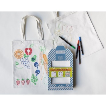 "Kit Stencil + tote bag ""market"""