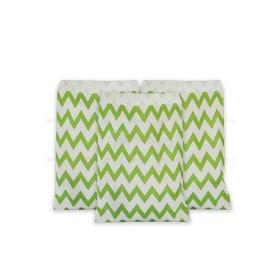 Bolsas papel chevron verde