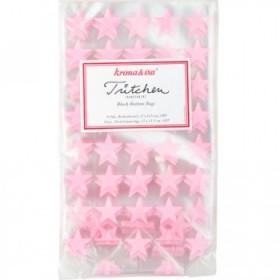 Bolsas transparentes estrellas rosas