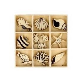Siluetas madera mar
