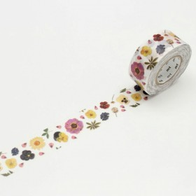 Washi tape MT for pack Pressed Flowers
