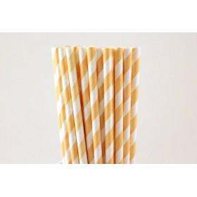 Pajitas de papel melocotón