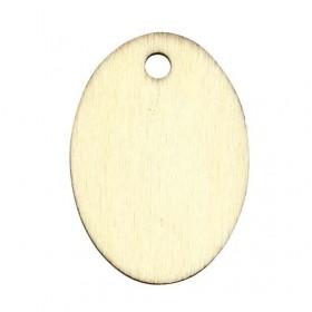 Etiqueta madera ovalada
