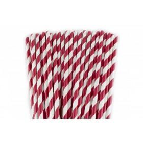 Pajitas de papel rojas