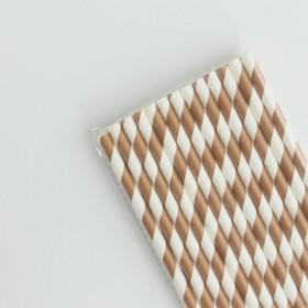 Pajitas de papel bronce