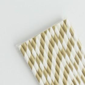 Pajitas de papel dorado