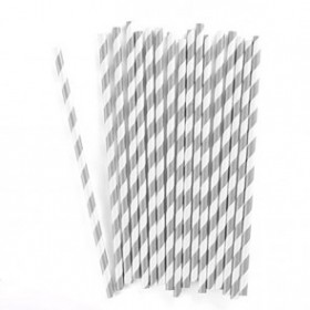 Pajitas de papel plata