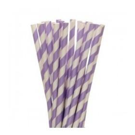 Pajitas de papel lila