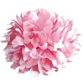 Pompón de seda rosa