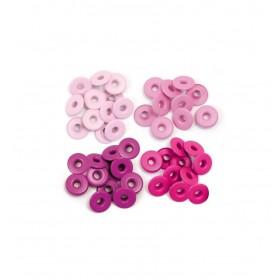 Eyelets anchos rosas