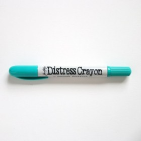 Distress crayon peacock feathers