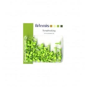 Mini brads verde