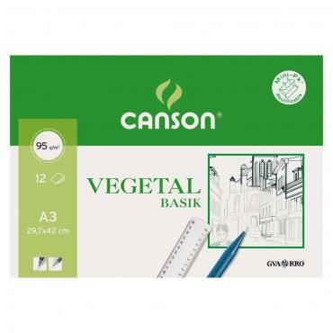Hoja de papel vegetal A3