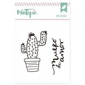 Sello acrílico cactus 2