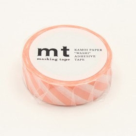 Washi tape MT stripe salmon pink