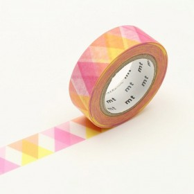 Washi Tape MT triangle and diamond pink