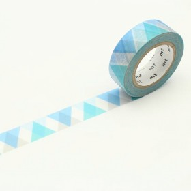 Washi Tape MT triangle and diamond blue