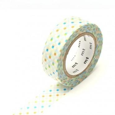 Washi Tape MT hasen dot green