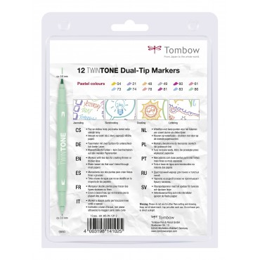 Rotuladores Twintone Pastel Tombow