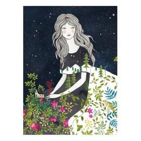 Lámina Lady Desidia - noche estrellada