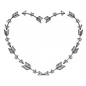 Sello madera Love story corazón