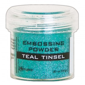 Polvos Embossing Teal Tinsel