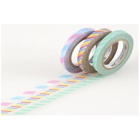 Pack Washi Tape MT slim twist cord A