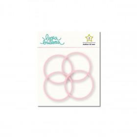 Anillas rosa pastel 45mm