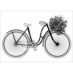 Sello madera bicicleta vintage