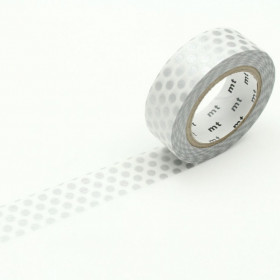 Washi tape Dot silver