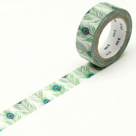 Washi tape Peacock feathers
