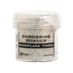 Polvos embossing Snowflake tinsel