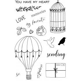 Sello acrílico Sending love