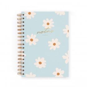 Cuaderno A5 floral blue