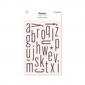 Sello acrílico alfabeto thin minúsculas