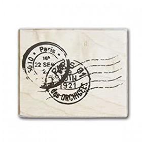 Sello madera franqueo postal